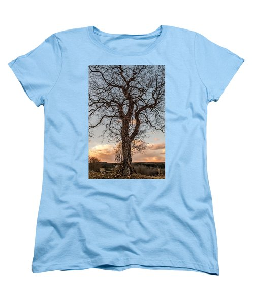 The End Of Another Day Women's T-Shirt (Standard Cut) by Wayne King