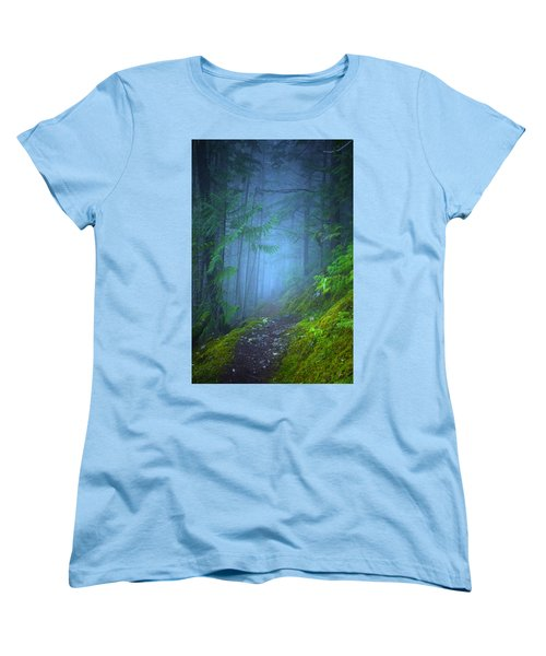 Women's T-Shirt (Standard Cut) featuring the photograph The Forest Blues by Tara Turner