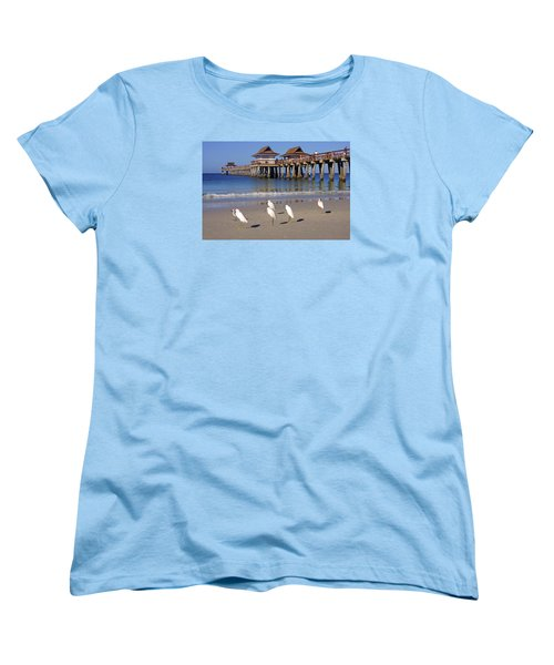 Women's T-Shirt (Standard Cut) featuring the photograph The Historic Naples Pier by Robb Stan