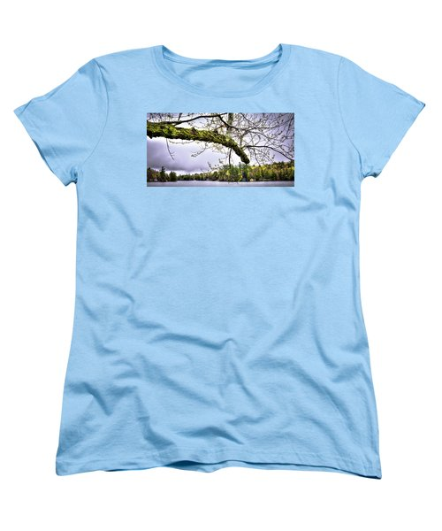 The Pond In Old Forge Women's T-Shirt (Standard Cut) by David Patterson