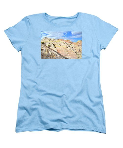 Top Of The World At Valley Of Fire Women's T-Shirt (Standard Cut) by Ray Mathis