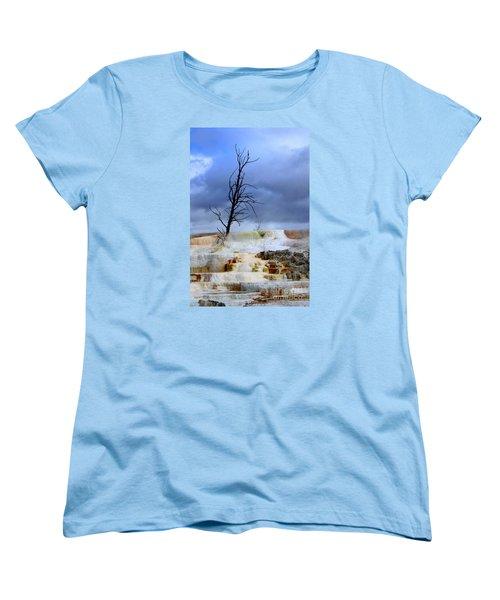 Travertine Terraces Women's T-Shirt (Standard Cut) by Irina Hays