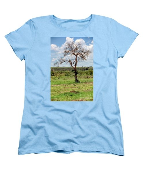 Women's T-Shirt (Standard Cut) featuring the photograph Tree by Charuhas Images