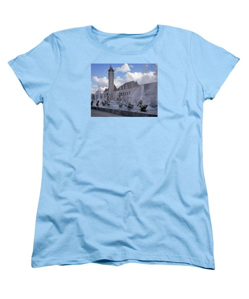 Women's T-Shirt (Standard Cut) featuring the photograph Union Station - St Louis by Harold Rau