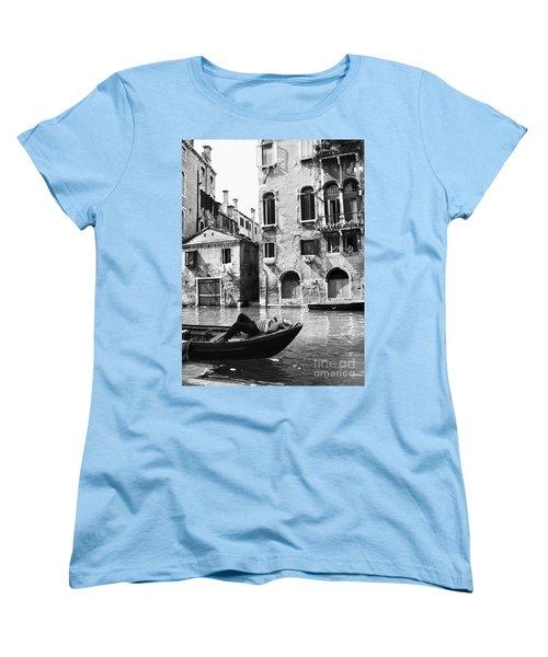 Women's T-Shirt (Standard Cut) featuring the photograph Venice Canal, 1969 by Granger