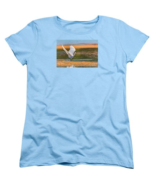 Women's T-Shirt (Standard Cut) featuring the photograph Wading by Jivko Nakev