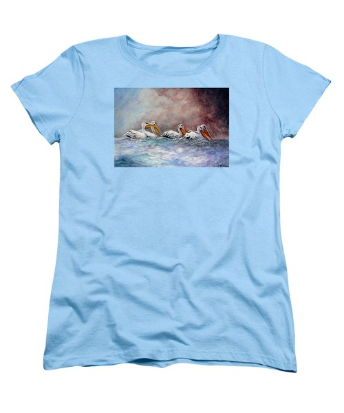 Waiting Out The Storm Women's T-Shirt (Standard Cut) by Jimmy Smith