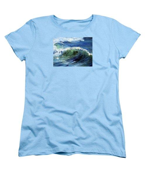 Wave Action Women's T-Shirt (Standard Cut) by Michael Helfen