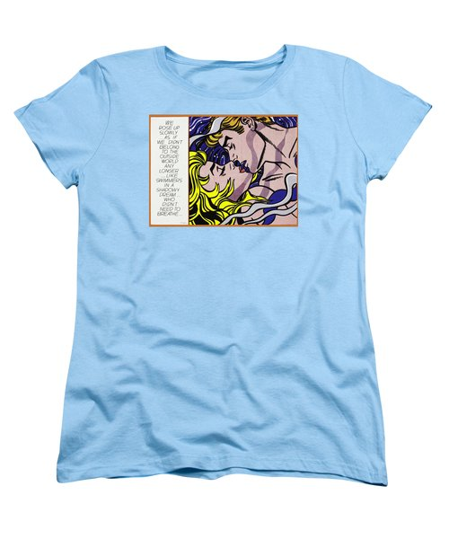 We Rose Up Slowly Women's T-Shirt (Standard Cut) by Roy Lichtenstein