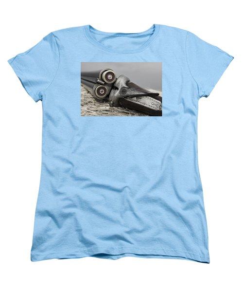 Webley And Scott 12 Gauge - D002721a Women's T-Shirt (Standard Cut) by Daniel Dempster