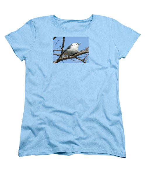 White-breasted Nuthatch Women's T-Shirt (Standard Cut) by Ricky L Jones