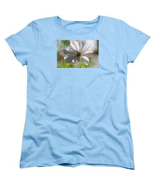 White Cosmos Women's T-Shirt (Standard Cut) by Yumi Johnson