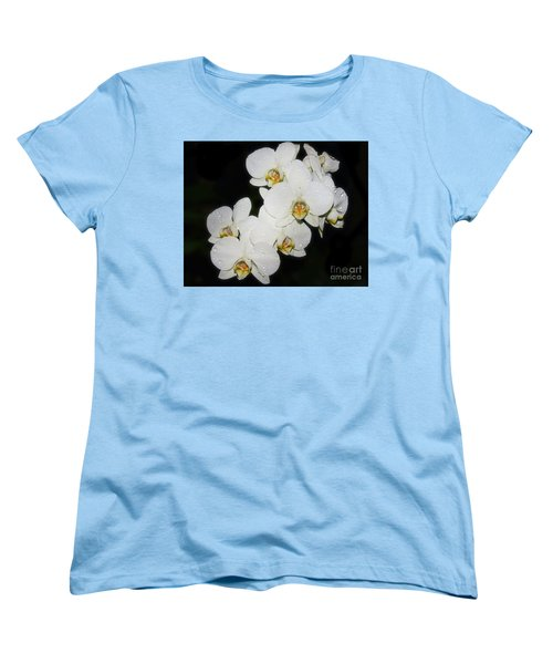 Women's T-Shirt (Standard Cut) featuring the photograph White Orchid by Elvira Ladocki