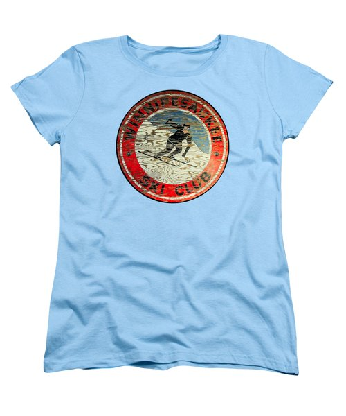 Winnipesaukee Ski Club Women's T-Shirt (Standard Cut) by Mim White
