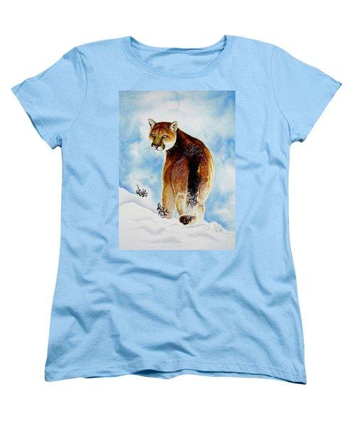 Winter Cougar Women's T-Shirt (Standard Cut) by Jimmy Smith