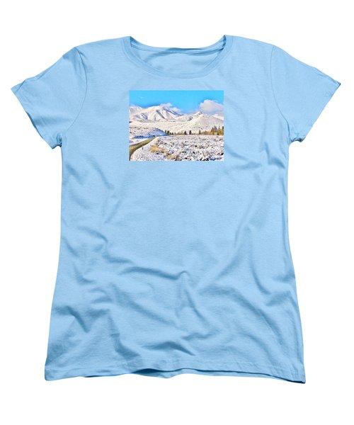 Winter Driving Women's T-Shirt (Standard Cut) by Marilyn Diaz