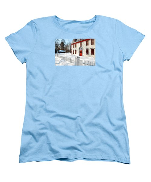 Winter In The Country Women's T-Shirt (Standard Cut) by James Kirkikis