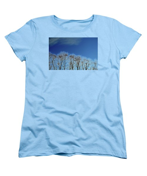 Winter Trees And Sky 3  Women's T-Shirt (Standard Cut) by Lyle Crump