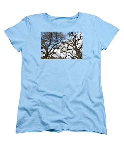 Women's T-Shirt (Standard Cut) featuring the photograph Winter Trees At Fort Tejon Lebec California  by Floyd Snyder