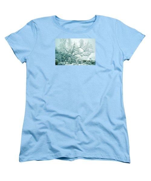 Women's T-Shirt (Standard Cut) featuring the photograph Winter Wonderland In Switzerland by Susanne Van Hulst