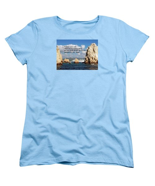 Women's T-Shirt (Standard Cut) featuring the photograph Wisdom by Gary Wonning
