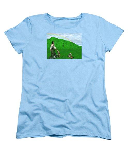 Year Of The Monkey Women's T-Shirt (Standard Cut) by Michele Wilson