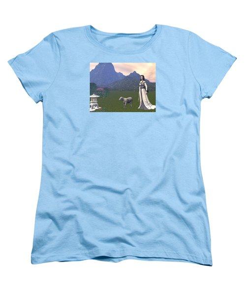 Year Of The Sheep Women's T-Shirt (Standard Cut) by Michele Wilson