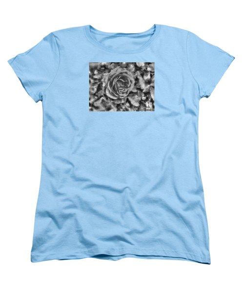 Women's T-Shirt (Standard Cut) featuring the pyrography Yury Bashkin Black Rose by Yury Bashkin