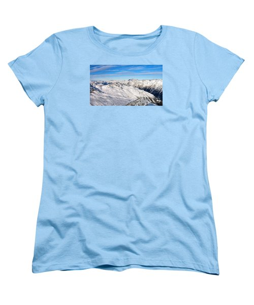 Women's T-Shirt (Standard Cut) featuring the pyrography Yury Bashkin Mountains by Yury Bashkin