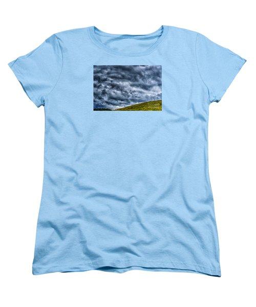 Three Crosses On Hill Women's T-Shirt (Standard Cut) by Thomas R Fletcher