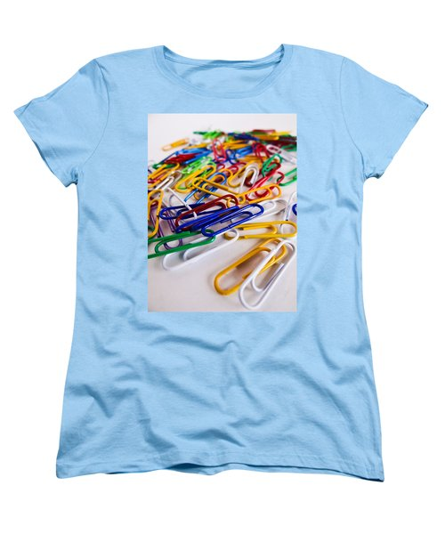Women's T-Shirt (Standard Cut) featuring the photograph 100 Paperclips by Julia Wilcox