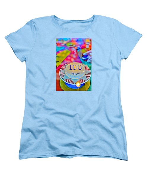 100 Points - Pinball Women's T-Shirt (Standard Cut) by Colleen Kammerer