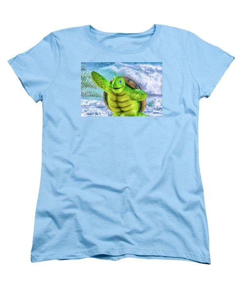 10731 Myrtle The Turtle Women's T-Shirt (Standard Cut) by Pamela Williams