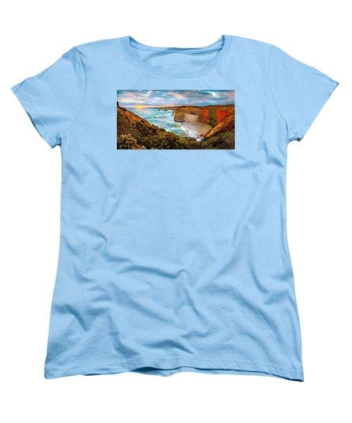 12 Apostle Sunset Women's T-Shirt (Standard Cut) by Az Jackson