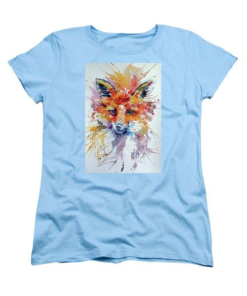 Red Fox Women's T-Shirt (Standard Cut) by Kovacs Anna Brigitta