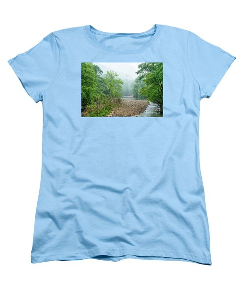 Women's T-Shirt (Standard Cut) featuring the photograph Williams River Summer Mist by Thomas R Fletcher
