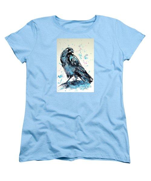 Crow Women's T-Shirt (Standard Cut) by Kovacs Anna Brigitta
