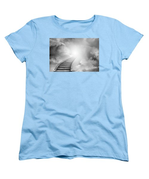 Women's T-Shirt (Standard Cut) featuring the photograph Stairway To Heaven by Les Cunliffe