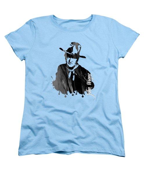 John Wayne Collection Women's T-Shirt (Standard Cut) by Marvin Blaine