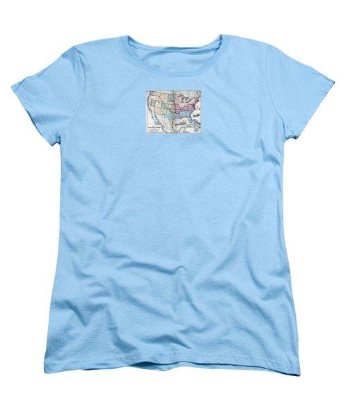 Women's T-Shirt (Standard Cut) featuring the digital art 1861 Us Military Map by Maciek Froncisz