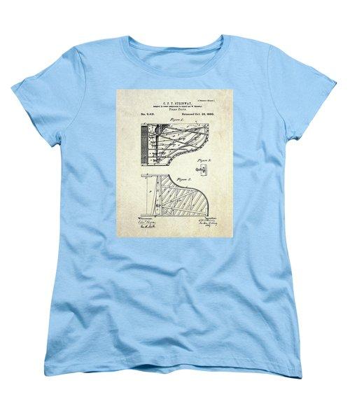1880 Steinway Piano Forte Patent Art Sheet 1  Women's T-Shirt (Standard Cut)