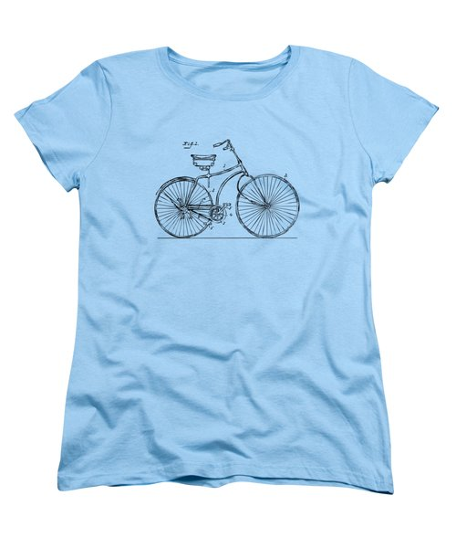 1890 Bicycle Patent Minimal - Vintage Women's T-Shirt (Standard Cut) by Nikki Marie Smith