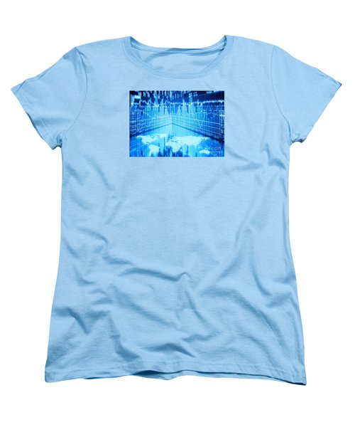 Women's T-Shirt (Standard Cut) featuring the photograph Stock Market Concept by Setsiri Silapasuwanchai