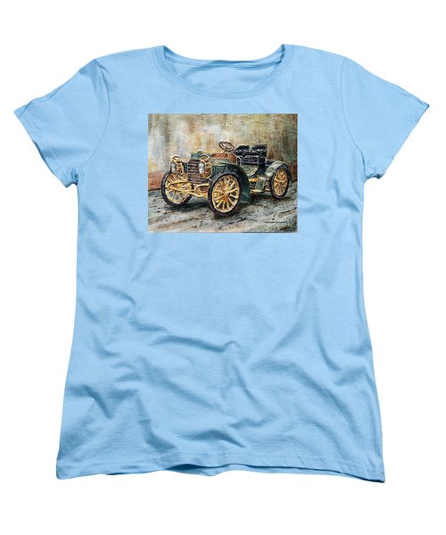 1901 Mercedes Benz Women's T-Shirt (Standard Cut) by Joey Agbayani