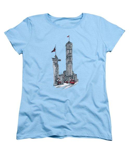 1908 Times Square,ny Women's T-Shirt (Standard Cut) by Andrzej Szczerski