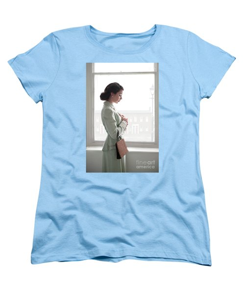 1940s Woman At The Window Women's T-Shirt (Standard Cut) by Lee Avison