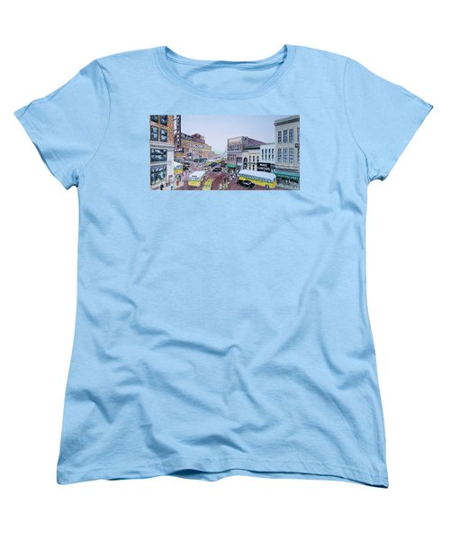 1948 Rush Hour Portsmouth Ohio Women's T-Shirt (Standard Cut) by Frank Hunter