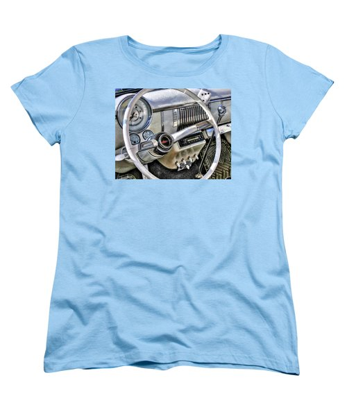 1950 White Chevy Coupe Women's T-Shirt (Standard Cut) by Trey Foerster