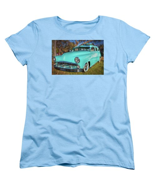 1951 Plymouth Suburban 2 Door Station Wagon 001 Women's T-Shirt (Standard Cut) by Rich Franco