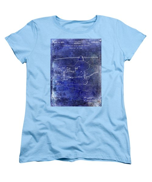 1953 Helicopter Patent Blue Women's T-Shirt (Standard Cut) by Jon Neidert